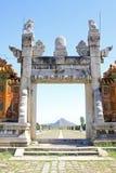 Drago e portone di Phoenix nelle tombe reali orientali del Qing D Fotografia Stock Libera da Diritti