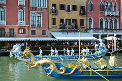Drago e Regata Storica, Venezia Immagini Stock Libere da Diritti
