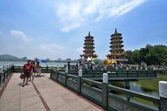 Drago e Tiger Pagodas Immagini Stock