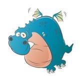 Dragão engraçado dos desenhos animados Fotos de Stock Royalty Free