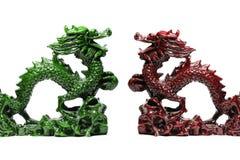 Drago fortunato verde e rosso fotografie stock