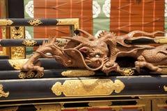 Drago intagliato decorato Fotografia Stock