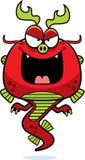Dragão mau do chinês dos desenhos animados Fotos de Stock Royalty Free