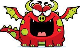 Dragão mau dos desenhos animados Fotos de Stock Royalty Free