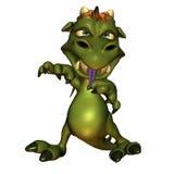 Dragão mau pequeno Fotografia de Stock Royalty Free