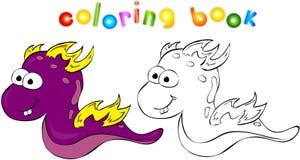 Drago-mostro del libro da colorare Illustrazione Vettoriale