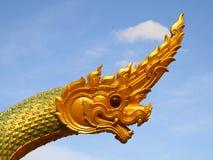 Drago o re tailandese della statua del Naga Fotografia Stock