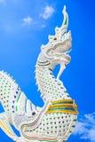 Drago o re tailandese della statua del Naga Immagini Stock