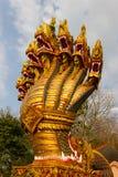 Statua del Naga con cinque teste Fotografia Stock Libera da Diritti