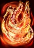 Drago-Phoenix, Fotografia Stock Libera da Diritti