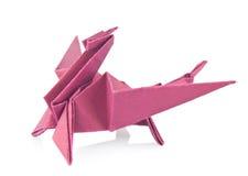 Drago porpora degli origami Fotografia Stock Libera da Diritti