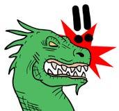 Drago ribelle Immagine Stock