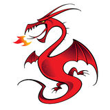 Drago rosso Fotografie Stock Libere da Diritti
