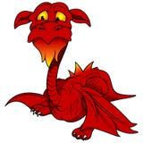 Drago rosso Fotografie Stock
