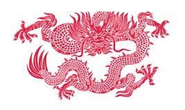 Drago rosso illustrazione di stock