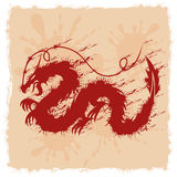 Drago rosso Immagine Stock