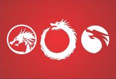 Drago rosso Immagini Stock