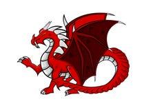 Drago rosso Fotografia Stock