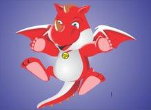 Drago rosso sveglio Fotografia Stock