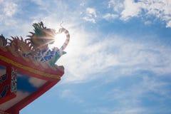 Drago sul cielo Fotografie Stock Libere da Diritti
