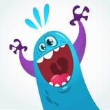 Drago sveglio del mostro del fumetto Carattere di vettore Mostro emozionante per la decorazione del partito illustrazione di stock