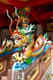 Drago in tempiale cinese Fotografie Stock Libere da Diritti