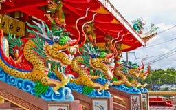 Drago in tempiale cinese Fotografia Stock Libera da Diritti