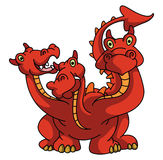 Drago With Three-hoofd Royalty-vrije Stock Afbeelding