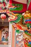 Drago in un tempio Tailandia Immagini Stock