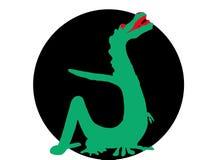 Drago verde Immagini Stock