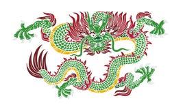Drago verde illustrazione di stock