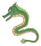 Drago verde Fotografie Stock