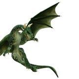 Drago verde che guarda giù Immagine Stock Libera da Diritti