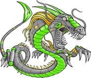 Drago verde del Cyborg del robot Immagini Stock Libere da Diritti