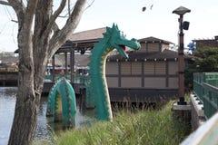 Drago verde di lego Immagini Stock