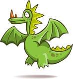 Drago verde divertente Immagini Stock