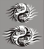 Drago yin-gennaio, simbolo di armonia e di equilibrio Immagini Stock