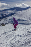 Dragobrat乌克兰 高山风景滑雪胜地 免版税库存照片