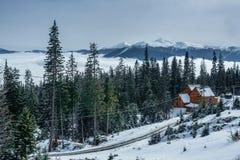Dragobrat乌克兰 高山风景滑雪胜地 库存照片