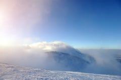 dragobrat横向山乌克兰冬天 免版税库存图片