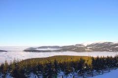 dragobrat横向山乌克兰冬天 免版税图库摄影