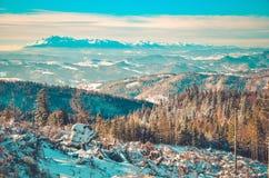 dragobrat χειμώνας της Ουκρανίας βουνών τοπίων Στοκ φωτογραφίες με δικαίωμα ελεύθερης χρήσης
