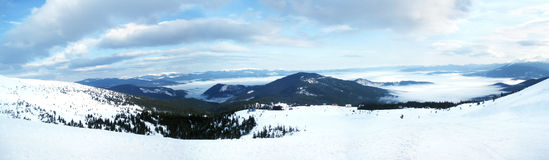 Dragobrat. Beautiful view of Carpathian mountains Stock Image