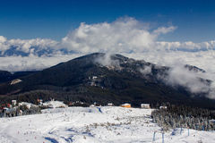 Dragobrat Ucraina Stazione sciistica scenica alpina Immagine Stock Libera da Diritti