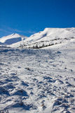 Dragobrat Ucraina Stazione sciistica scenica alpina Fotografia Stock