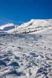 Dragobrat Ukraine. Alpine scenic Ski resort. High mountain landscape Stock Photo