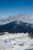 Dragobrat Ukraine. Alpine scenic Ski resort. Dragobrat Ukraine. Alpine scenic panoramic Ski resort Stock Photo