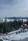 Dragobrat Ukraine. Alpine scenic Ski resort. Winter, Dragobrat, Ukraine. Alpine scenic  Ski resort home Stock Photography