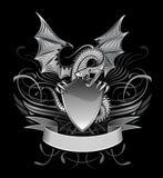 Dragon à ailes par mystère Images stock