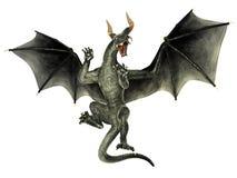 Dragon élégant d'isolement sur le fond blanc illustration stock